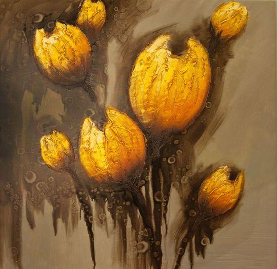 Желтые тюльпаны.худ.Р.Смородинов