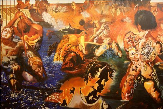 Ловля тунца.копия Дали.худ.Р.Смородинов