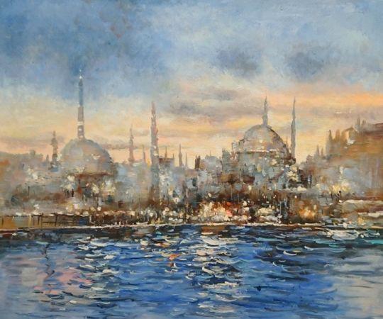 Вечерний Стамбул.худ.С.Минаев