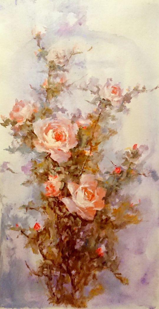 Цветущие розы.худ.А.Джанильятти
