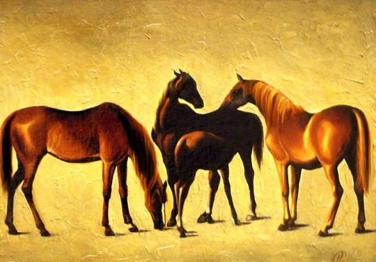 Лошади.худ.Луис Гарсия