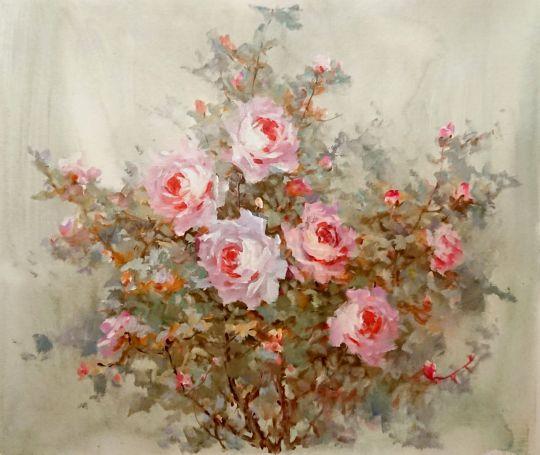 Розовый сад.худ.А.Джанильятти