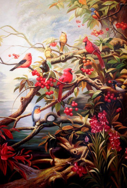 Райские птички.худ.А.Бруно