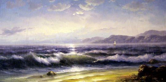 Морской пейзаж.худ.Р.Смородинов