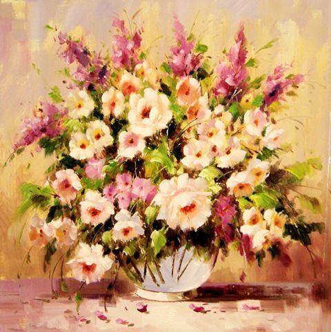 Нежный букет летних цветов.худ.А.Джанильятти
