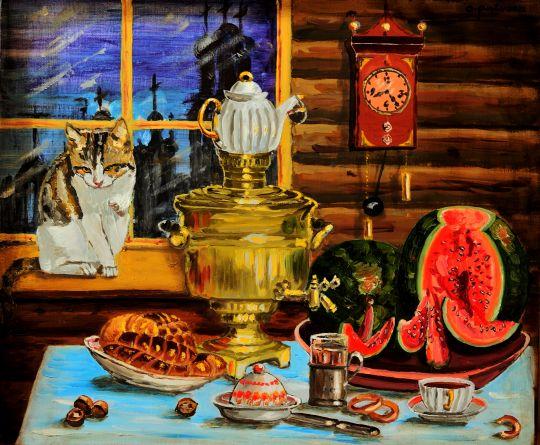 Вечерний чай в купеческом доме