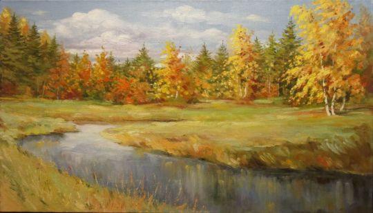 Река в осеннем лесу