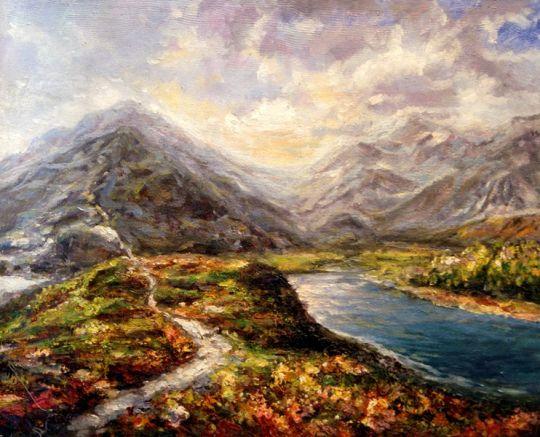Горное озеро.худ.Р.Смородинов