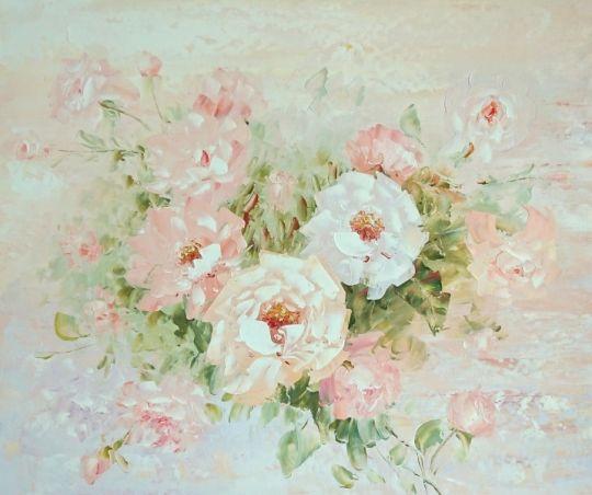 Нежные розы.худ.А.Джанильятти