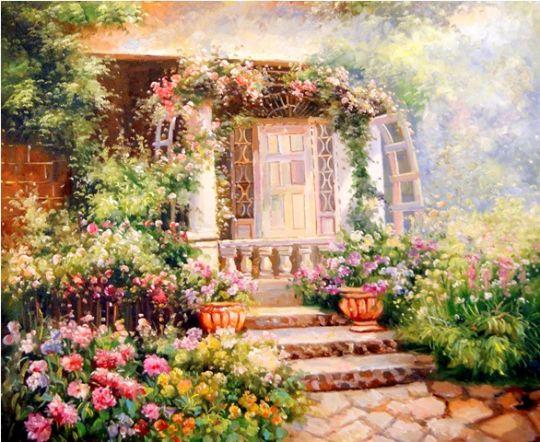 Летний сад.худ.С.Минаев