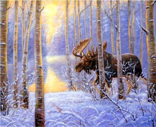 В зимнем лесу.худ.С.Минаев