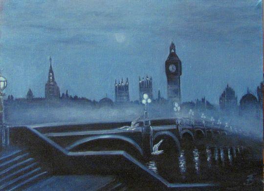 Лондон.Утро туманное