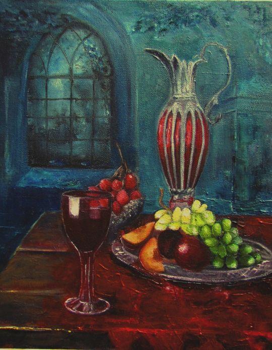 Натюрморт.Вино и фрукты