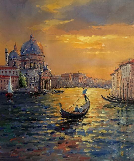 Вечерняя Венеция.худ.А.Бруно