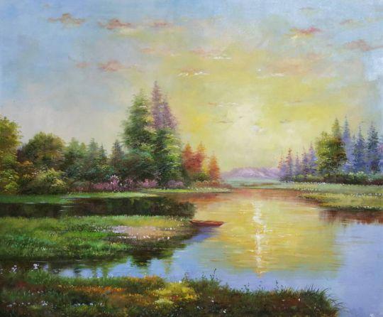 В лучах солнца.худ.Р.Смородинов