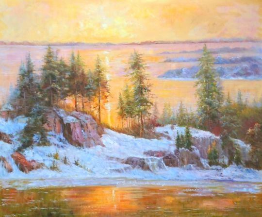 Золотистый рассвет.худ.Р.Смородинов