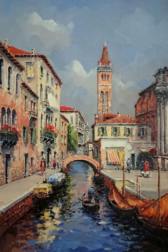 Венецианский пейзаж.худ.А.Бруно