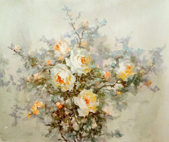 Чайные розы.худ.А.Джанильятти