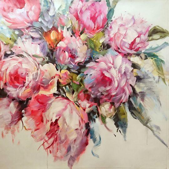 Пионы цветут.худ.Л.Гарсия