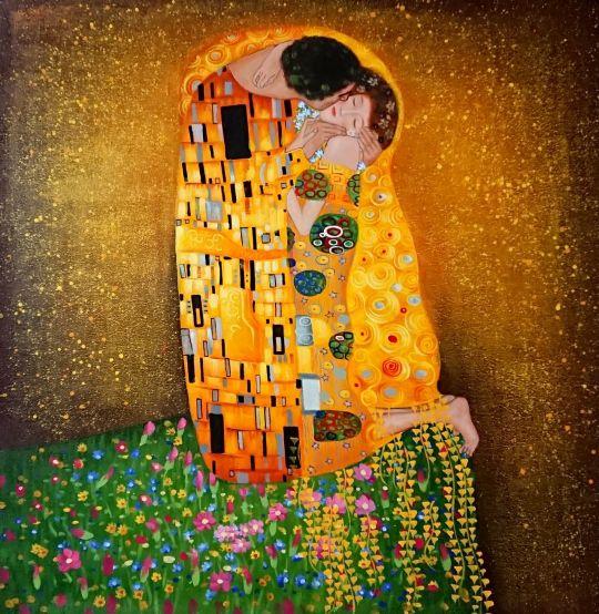 Поцелуй.копия Климта.худ.С.Минаев