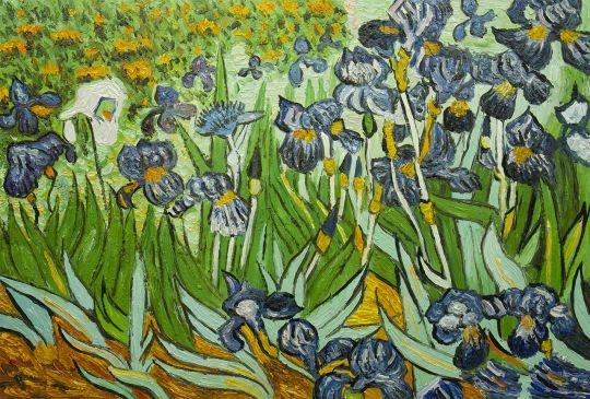 Копия картины Ван Гога. Ирисы