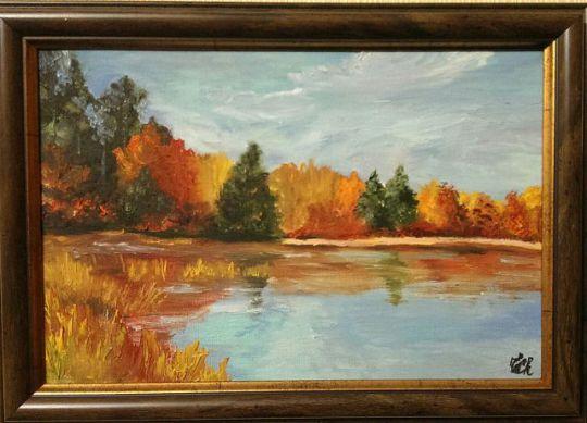 Золотая осень на озере