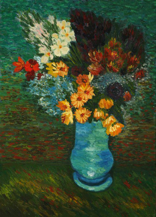 Копия Ван Гог Букет в голубой вазе