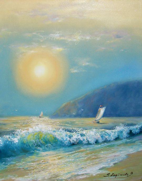 Закат вечерний море нежно целовал..