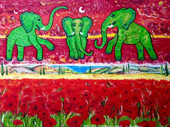Слоники в маковых полях