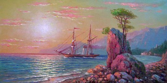 Восход у Крымских берегов.