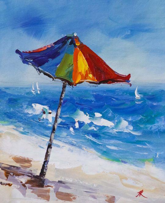 Пляжные истории.  Зонт