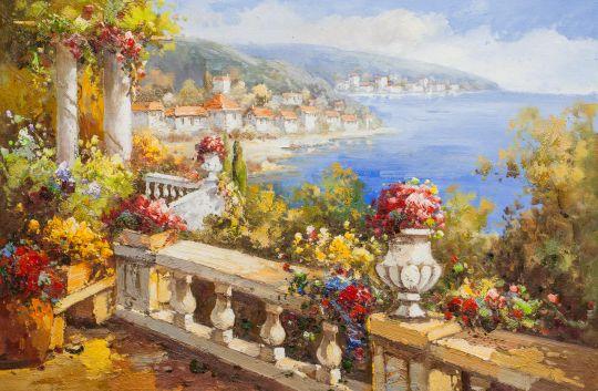 Вид с балкона на город