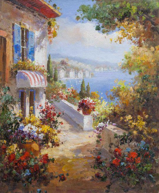 Средиземноморский городок. Вид с террасы N6