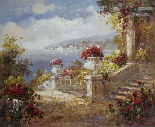 Средиземноморский городок. Вид с террасы N7