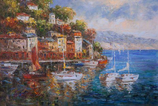 Вид на прибрежный город N2