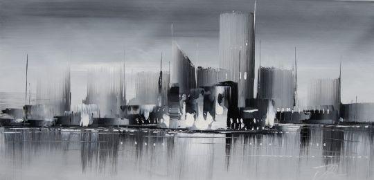 """Городской пейзаж """"Город в монохроме. От черного к белому"""""""