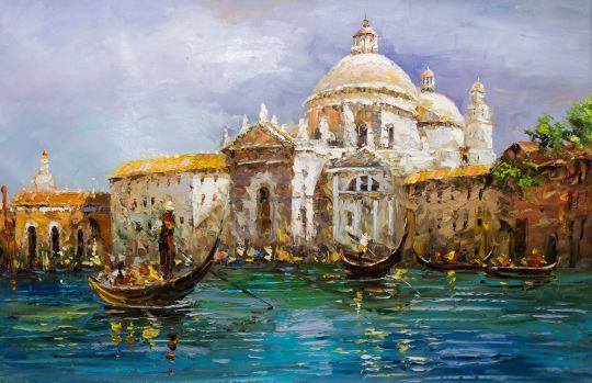 """Картина маслом  """"Венецианский пейзаж"""""""