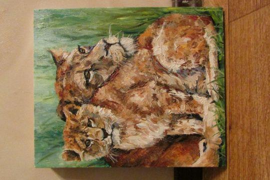 Львица с малышом