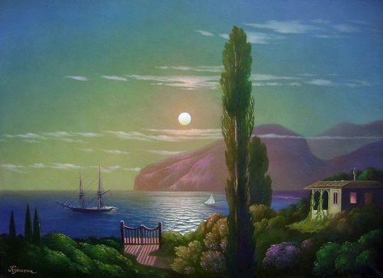 Лунная ночь в Крыму.