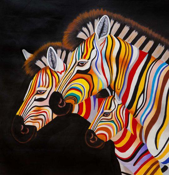 Разноцветные зебры N7