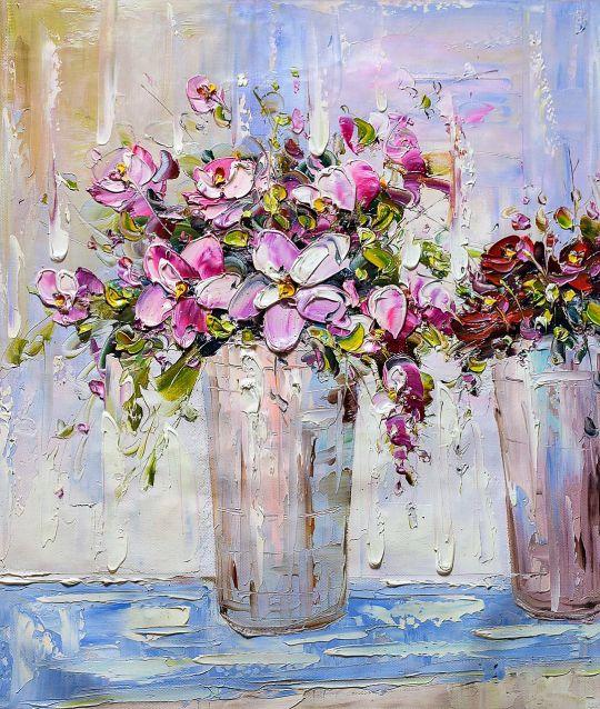 Букет с розовыми цветами