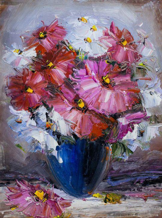 Букет. Розовые цветы