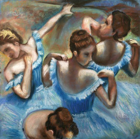 Копия Дега Голубые танцовщицы