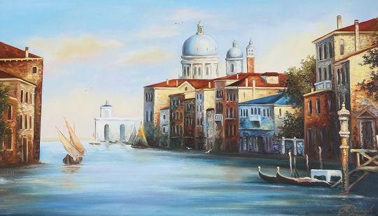 Картина маслом Венеция , Картина на холсте , Готовая картина маслом