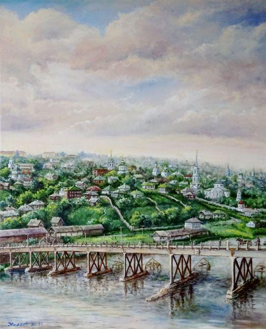 Воронеж. Вид от Чернавского моста