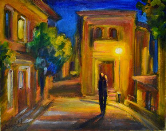 Под ночным фонарем