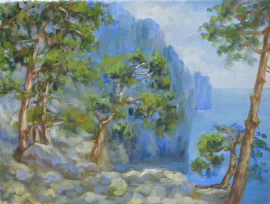 Крымский берег (этюд)