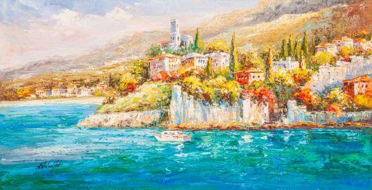 Лигурийское побережье. Возвышаясь над морем