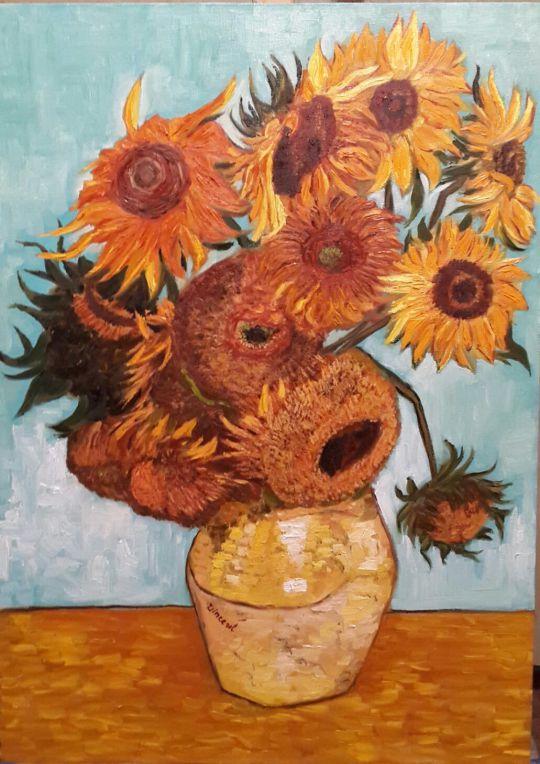 Копия Винсент ван Гог Двенадцать подсолнухов в вазе