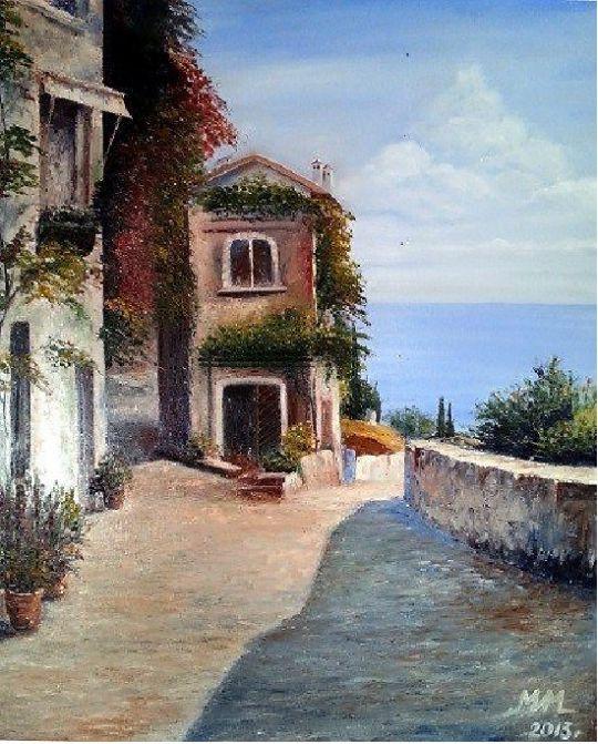 Итальянская улочка к морю